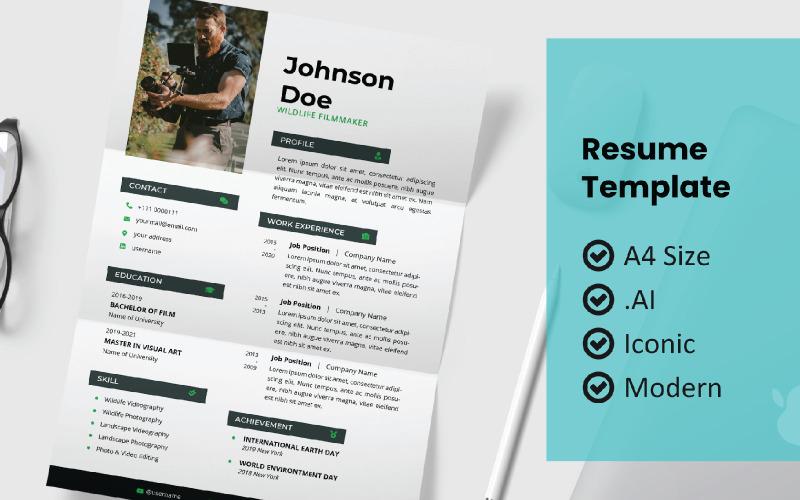 Modern Block Design Resume Printable Template