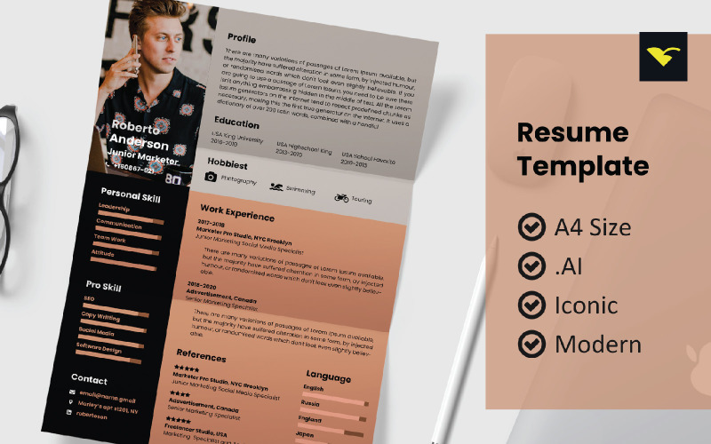Modern Design Resume Printable Template