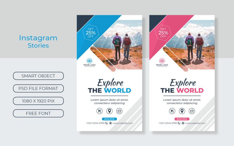 Travel Agency Instagram Stories ads Design Social Media