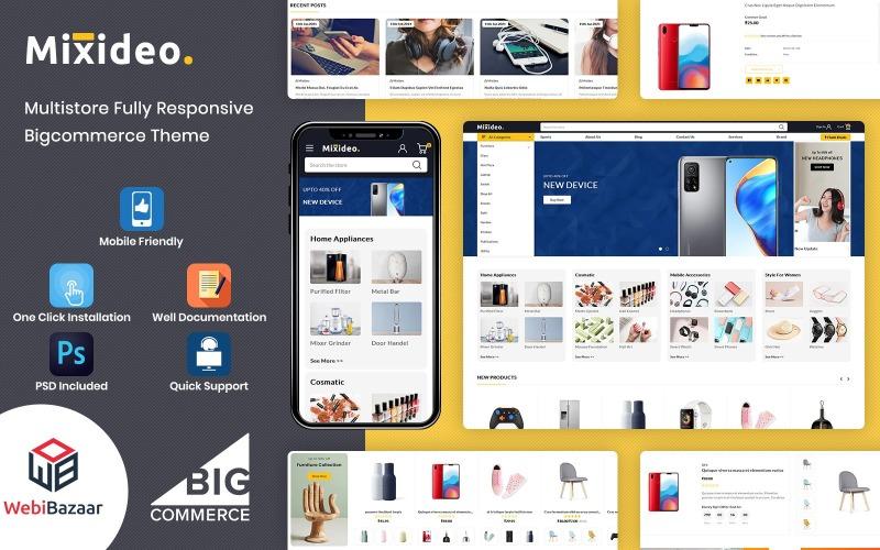 Mixidio - Víceúčelové modulární téma BigCommerce založené na šablonách