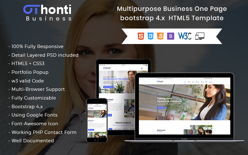 Othonti - Responsive One Page Clean HTML Landing Page