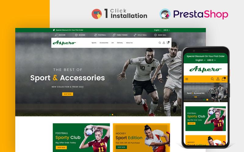 Aspero Sports Store PrestaShop Teması