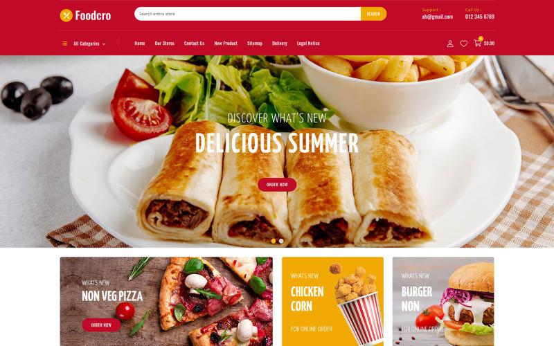 Foodcro Restaurant Store PrestaShop Teması