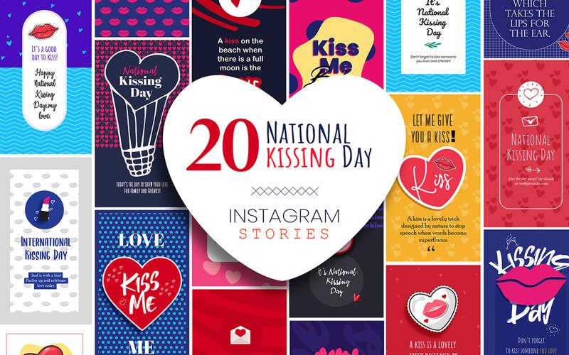 Kissing Day Instagram Stories Pack Social Media