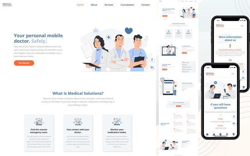 Online Doctor – HTML5 Landing Page Template
