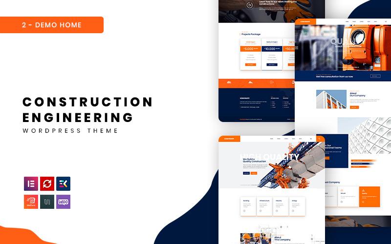 Konstruksy - Construction Engineering WordPress Theme