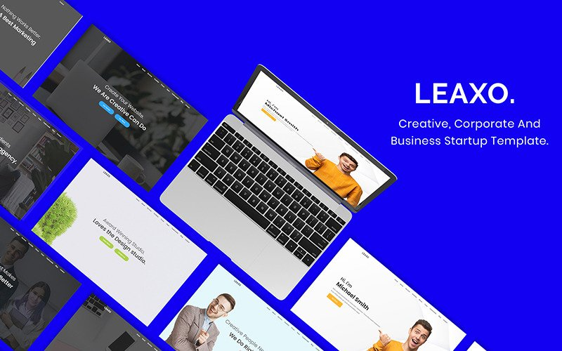 Leaxo-Onepage Parallax Bootstrap Website Template
