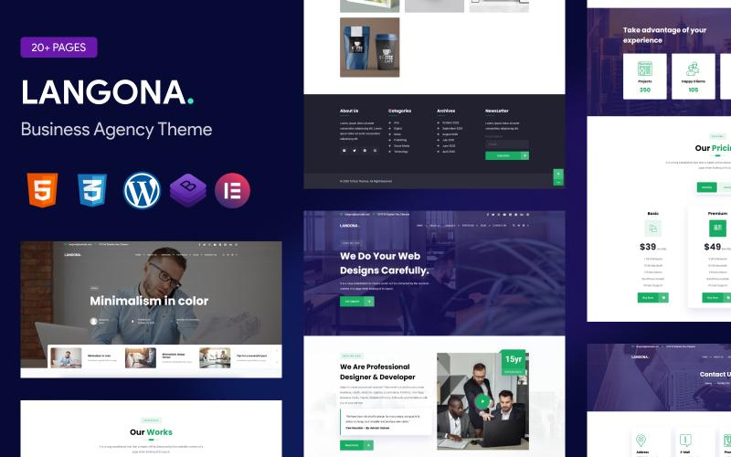 Langona – Business Agency WordPress Theme