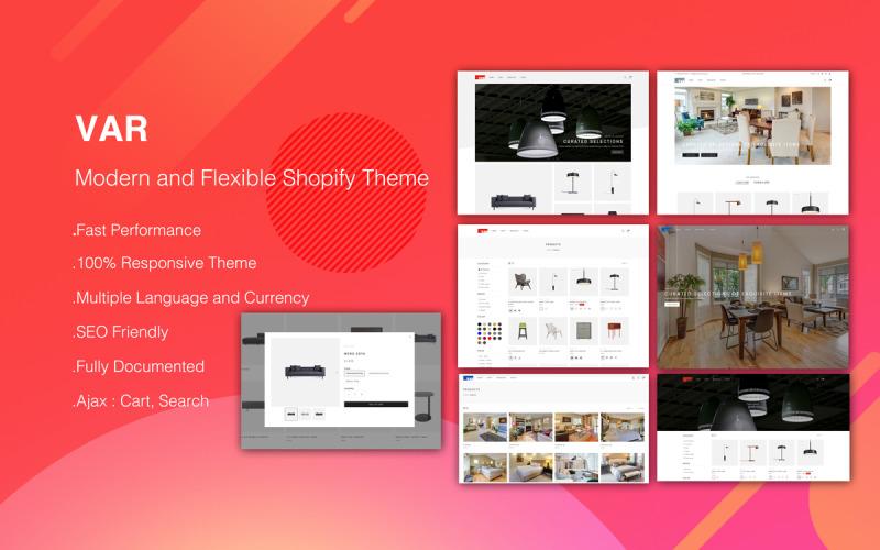 VAR - Thème Shopify moderne et flexible