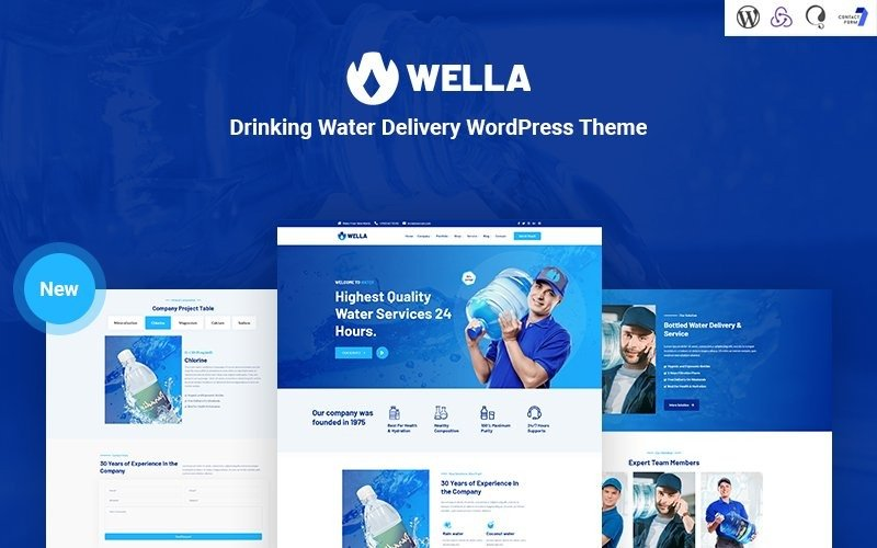 Wella -  Drinking Water Delivery WordPress Theme