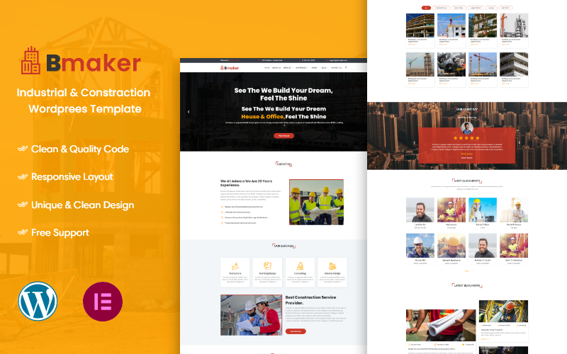 Bmaker - Construction WordPress Theme