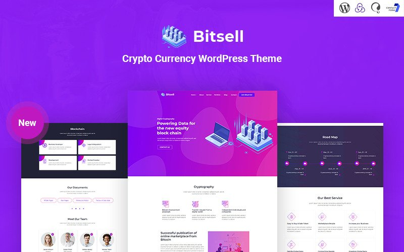 Bitsell - Crypto Currency Responsive WordPress Theme