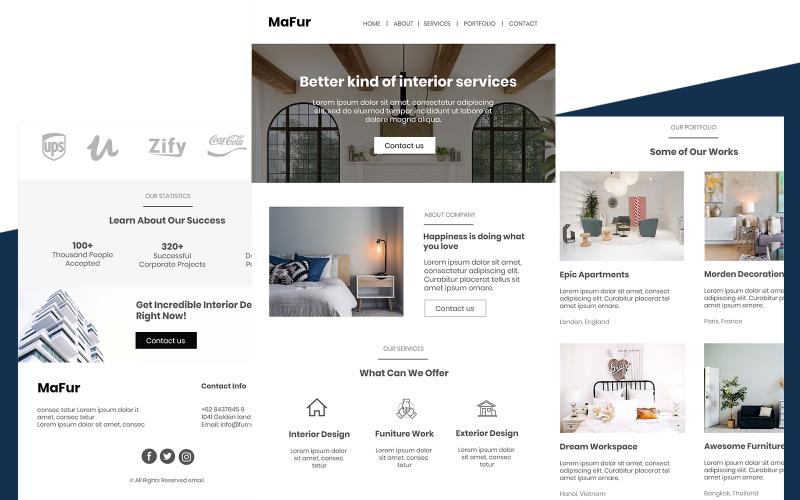 Mafur - Többcélú bútor e-mail hírlevél sablon