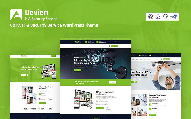 Devien - CCTV, IT and Security Service Responsive WordPress Theme