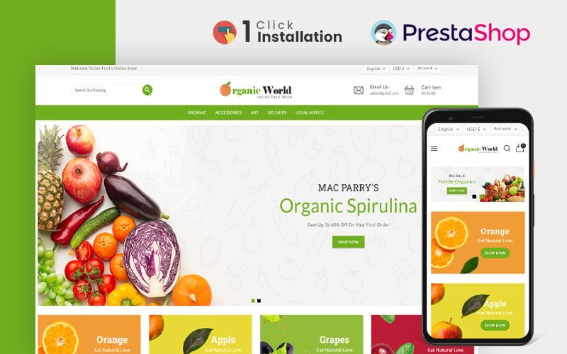 Organic Word Food & Grocery PrestaShop Theme