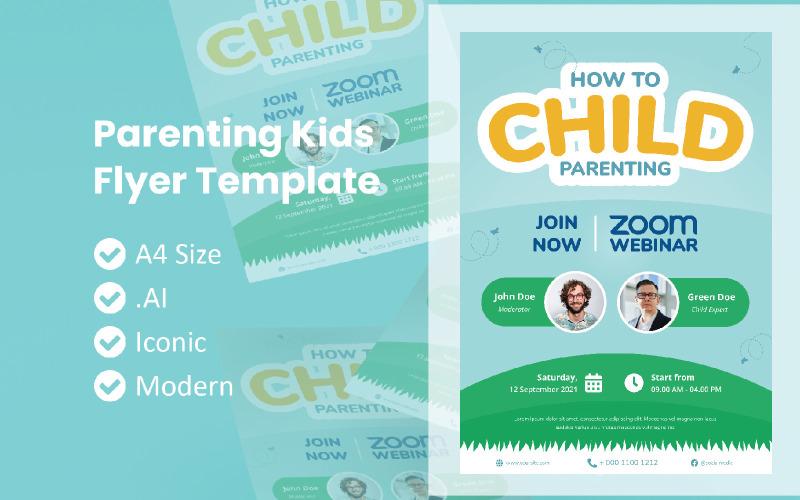 Parenting Kids Webinar Live Zoom Flyer Brochure Corporate identity template