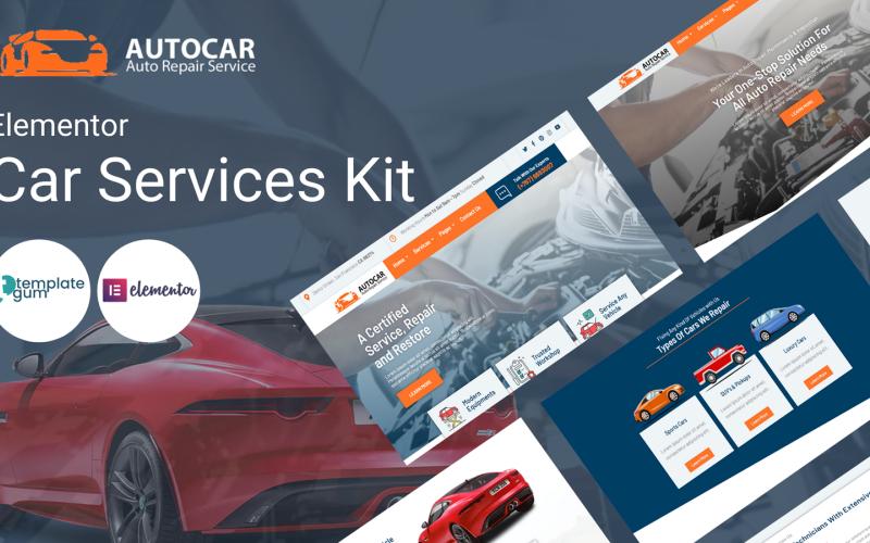 Autocar - Kit modello Elementor per servizio di riparazione auto