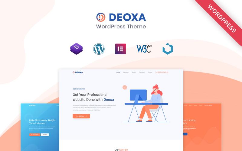 Deoxa - WordPress Landing Page Theme