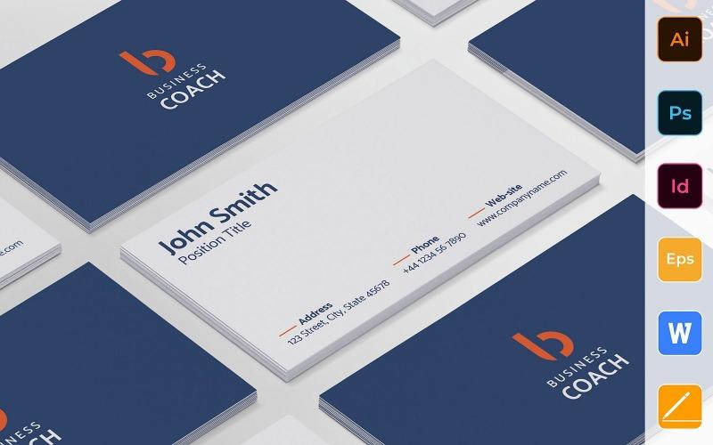 Modelo de cartão de visita profissional de coach de negócios