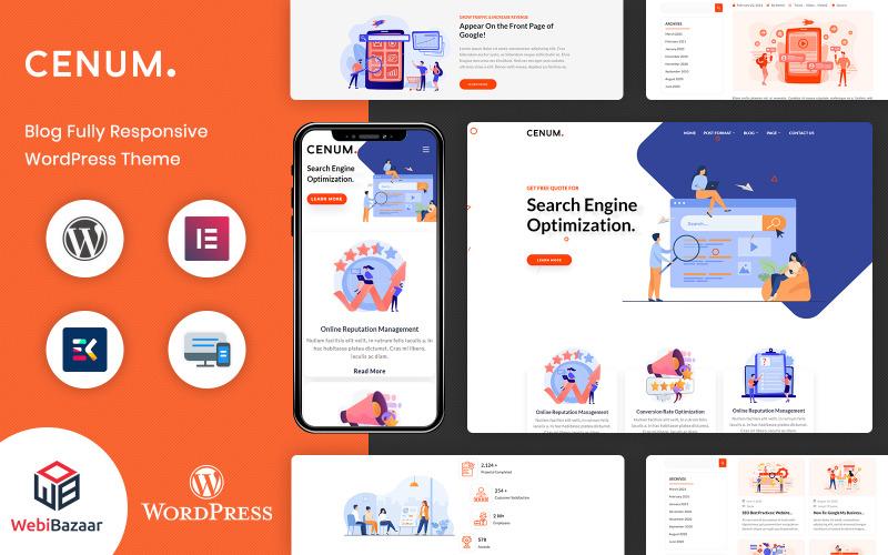 Cenum-SEO和数字营销元素或WordPress主题