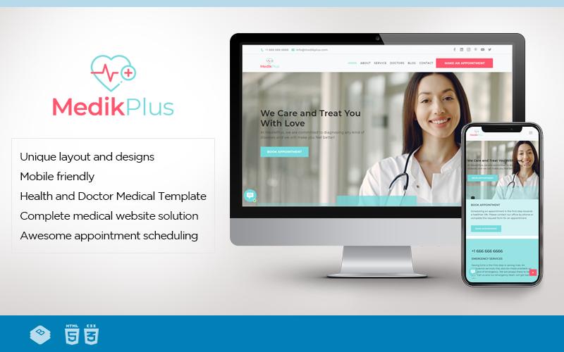 MedikPlus   Шаблон веб-сайту для медицини та охорони здоров'я