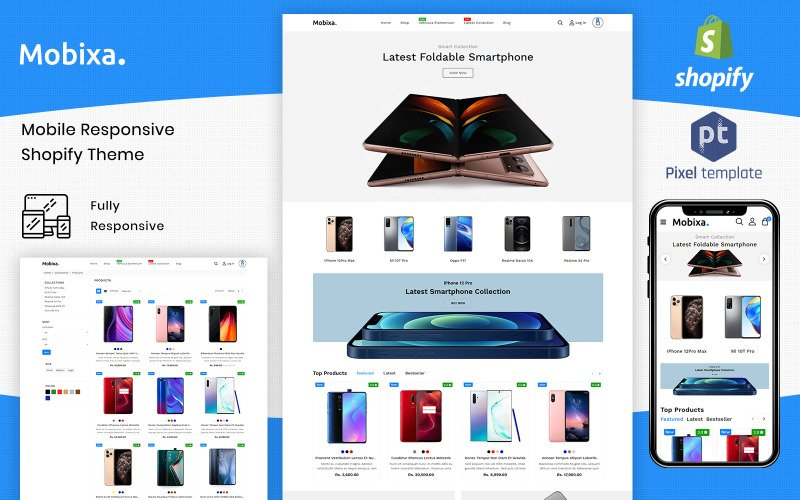Mobixa - Многоцелевой шаблон для мобильных Shopify
