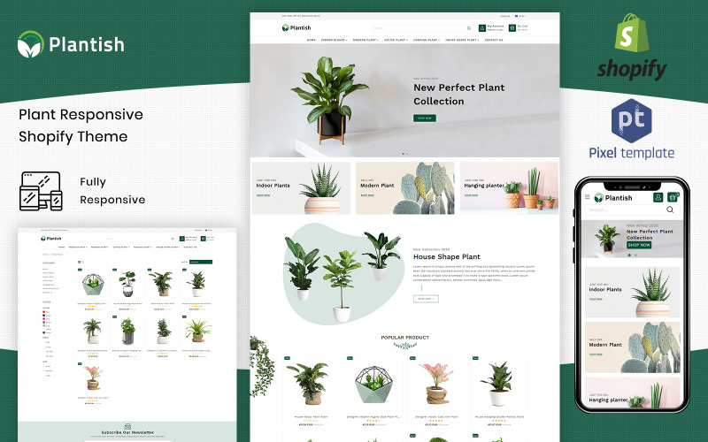 Plantish - Gardening & Houseplants Shopify Template