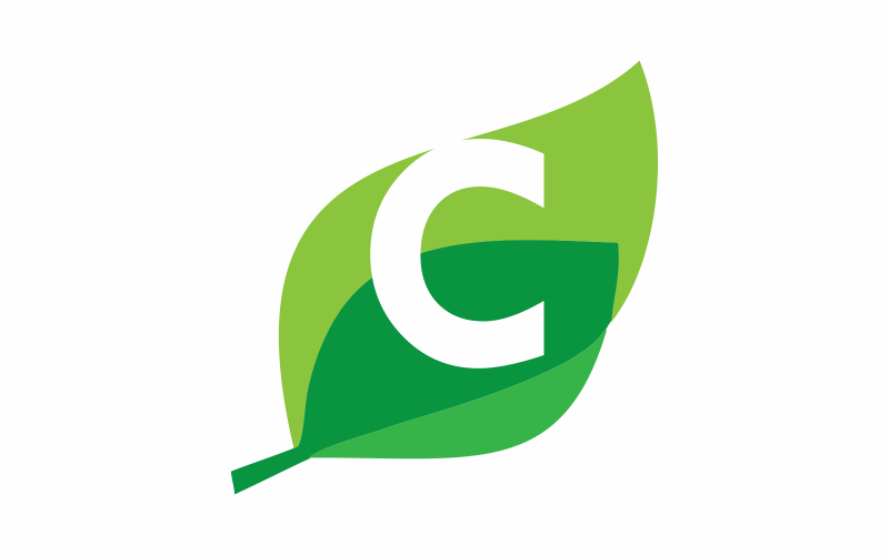 Initial C is Green Logo Template