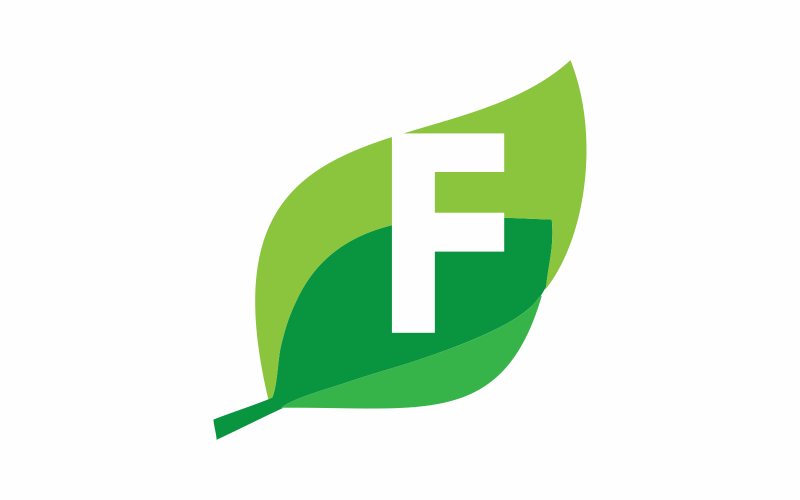 Initial F is Green Logo Template