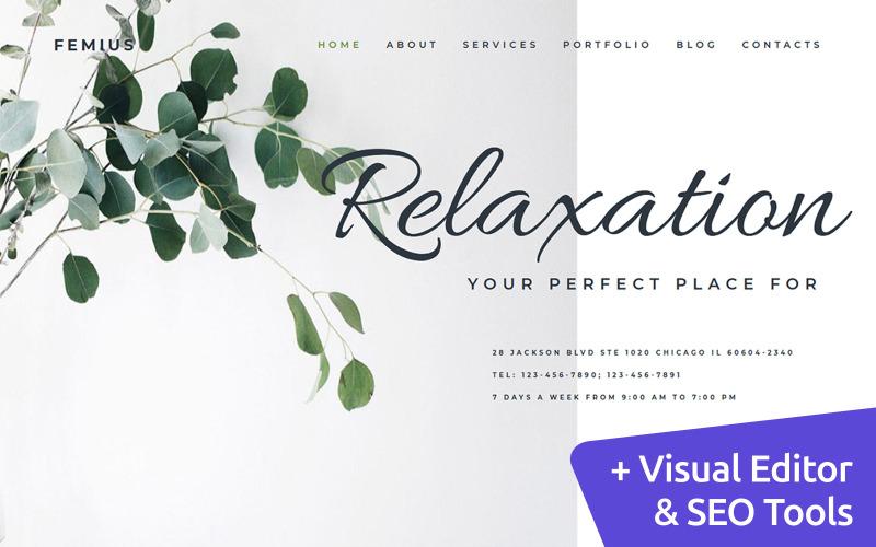Masaj Terapisi MotoCMS Web Sitesi Şablonu
