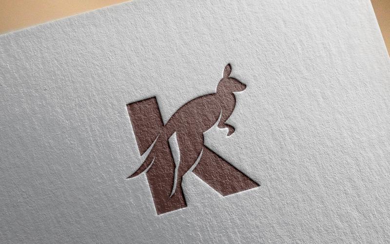 Kangaroo Letter K Logo Template
