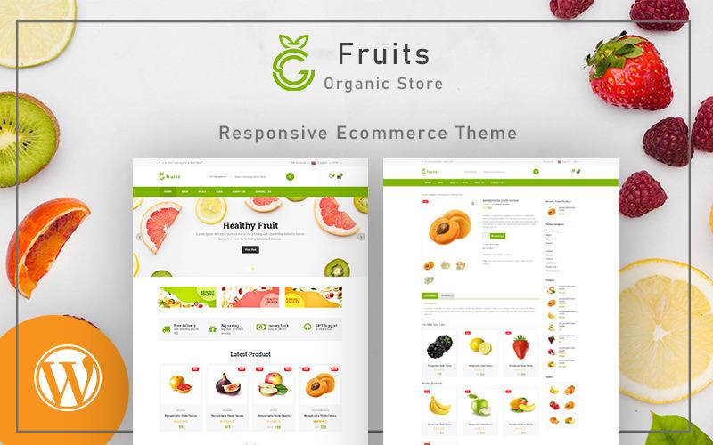 Органические фрукты - Многоцелевая тема WooCommerce