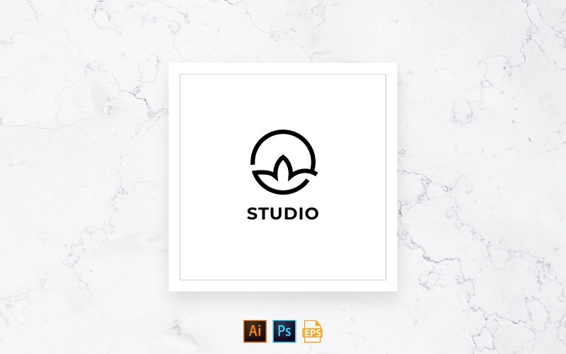Ready-to-Use Yoga Instructor Logo Template