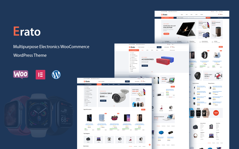 Erato - Tema WordPress de WooCommerce para Eletrônicos Multifuncionais