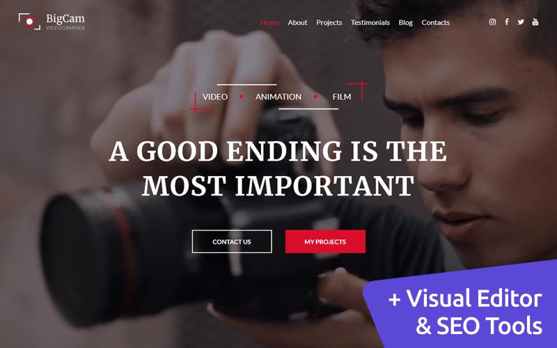 Videografo Premium Moto CMS 3 Website Design