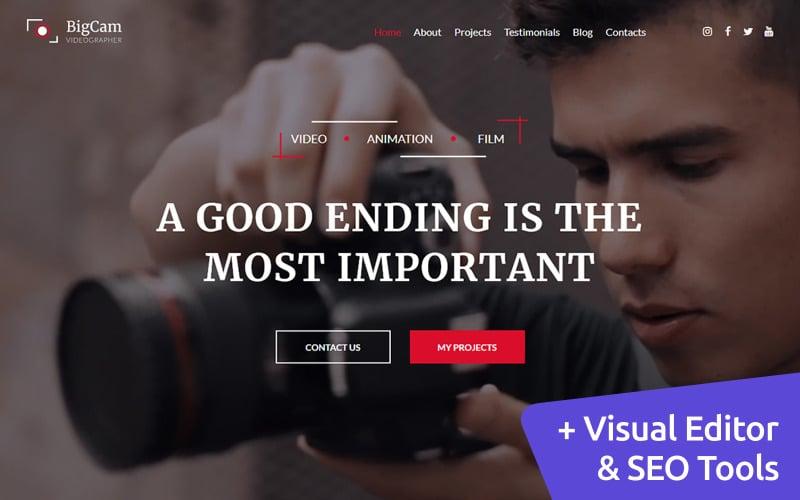Videographer Premium Moto CMS 3 Website-Design