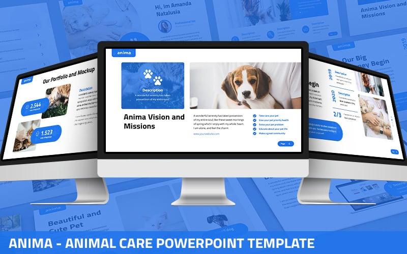 Anima - Шаблон презентаций PowerPoint по уходу за животными
