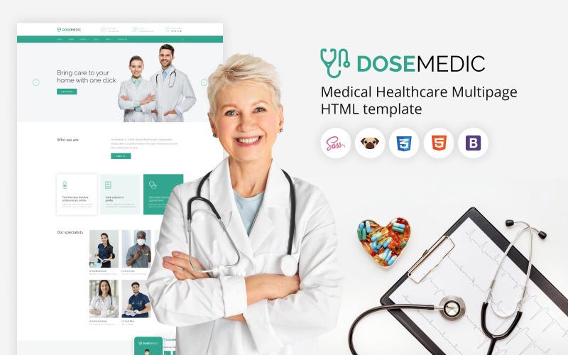 DoseMedic - шаблон HTML5 для медицинских учреждений