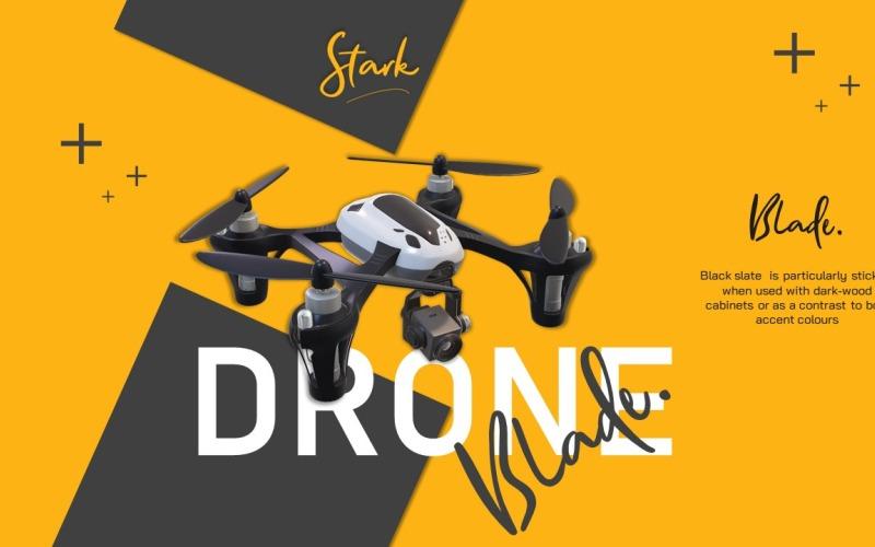 Drone Infographic Pack - szablon prezentacji zasobów PowerPoint