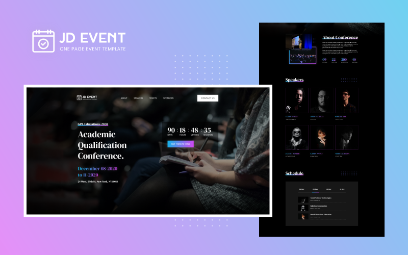 JD Event - Responsive Event Website Joomla Vorlage