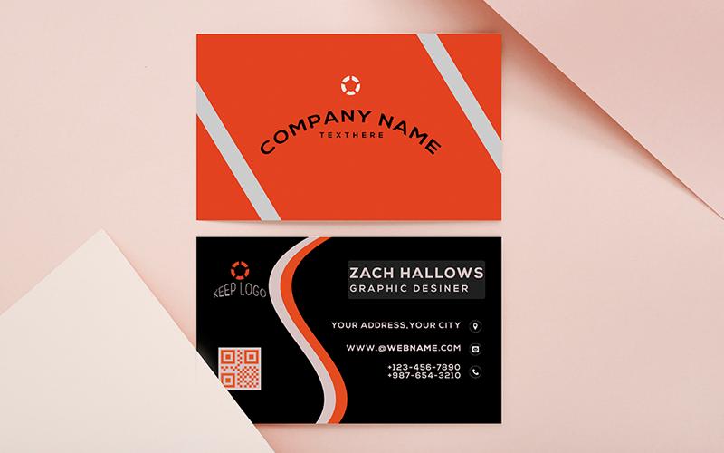 Modelo de identidade corporativa de cartão de visita criativo