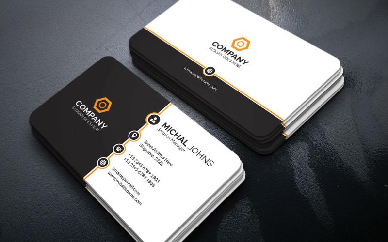 Modelo de identidade corporativa de cartão de visita