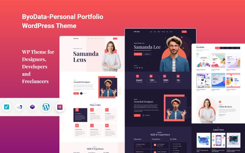 Byodata Personal Portfolio WordPress-Theme