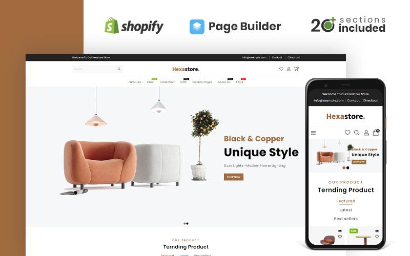 Thème Shopify pour magasin de bois et de meubles Hexastore