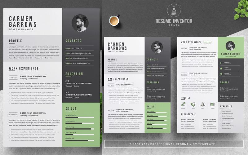 Modèles de CV imprimables Carmen