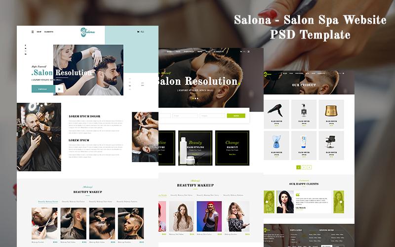 Salon Spa Website PSD Template