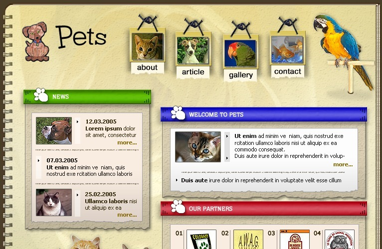 Animals & Pets PhpBB Template
