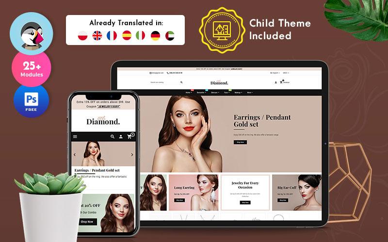 Diamond – Jewelry Imitation Store Multipurpose PrestaShop Theme