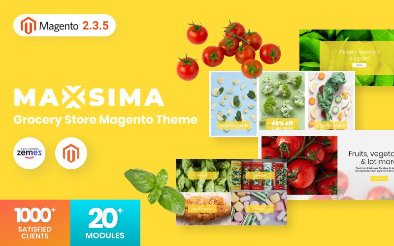 Maxsima - тема для продуктового магазина Magento2