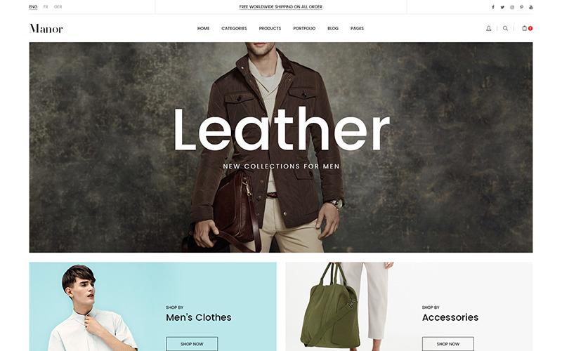 Тема Prestashop для магазина модной одежды Manor 1.7.7.x